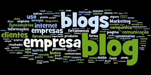 Tag cloud do Blog Corporativo BY WORDLE.NET